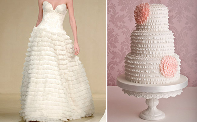 Fashion Inspired Wedding Cakes (2/6)