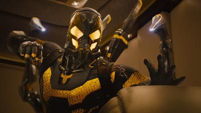Marvel's Ant-Man..L to R: Darren Cross/Yellowjacket (Corey Stoll) & Scott Lang/Ant-Man (Paul Rudd)..Photo Credit: Film Frame..© Marvel 2015