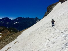 Crossing the Snow Field to the Summi