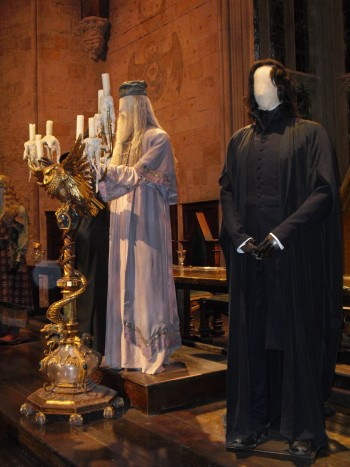 Harry-Potter-Studio-Tour-London-Costumes-Great-Hall-Dumbledore-Snape