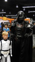 Star Wars Celebration Anaheim 2015 awesome Darth Vader and kid Stormtrooper cosplay