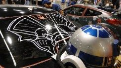 Star Wars Celebration Anaheim 2015 themed car, Millenium Falcon hyperspace R2D2