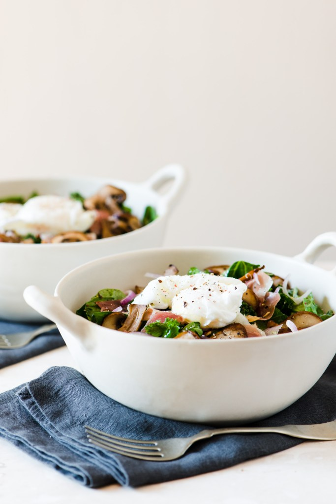 Mushroom, Prosciutto, & Artichoke Kale Salad