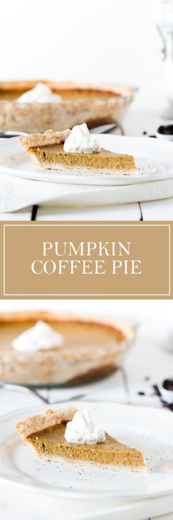 Pumpkin Coffee Pie - Pumpkin pie, with coffee built in!