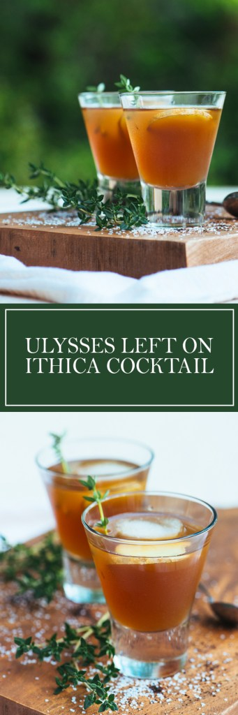 Ulysses Left on Ithaca Cocktail - A refreshing blend of lemon, earl grey, and bourbon!