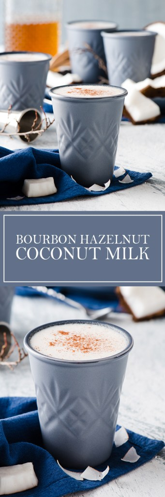 Bourbon Hazelnut Coconut Milk - The perfect winter drink if you love bourbon, and wish you had an alternative to egg nog!