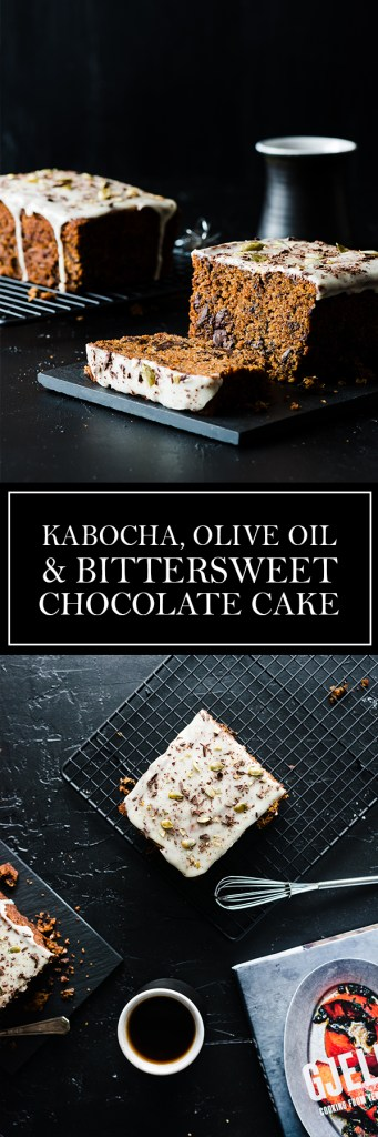 Kabocha, Olive Oil, Bittersweet Chocolate Cake - A uniquely flavoured cake, from the beautiful Gjelina cookbook.