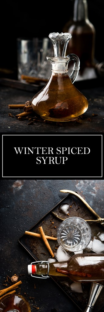 Winter Spiced Syrup - Cinnamon, nutmeg, and cloves make this the perfect winter syrup.