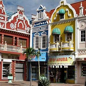 Aruba downtown shopping area