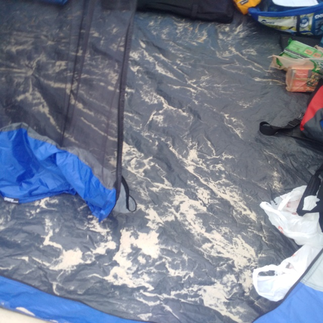 Sand in the tent