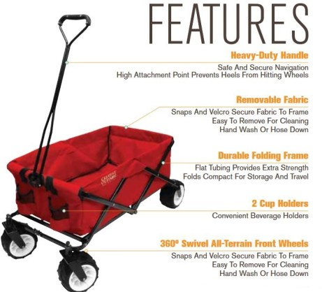 Folding wagon features