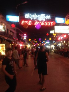 Enjoying the night life of Siem Reap