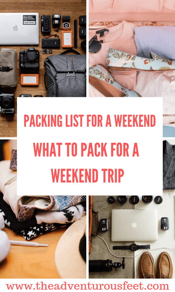 Planning to go for a short trip break? Here is the weekend trip packing list to help you pack all you need. #weekendpackinglist #weekendpacking #packinglist #weekend packinglistsummer #3dayspacking #minimalistweekendpackinglist #travellight #carryonweekendpackinglist #whattopackforaweekendgetaway