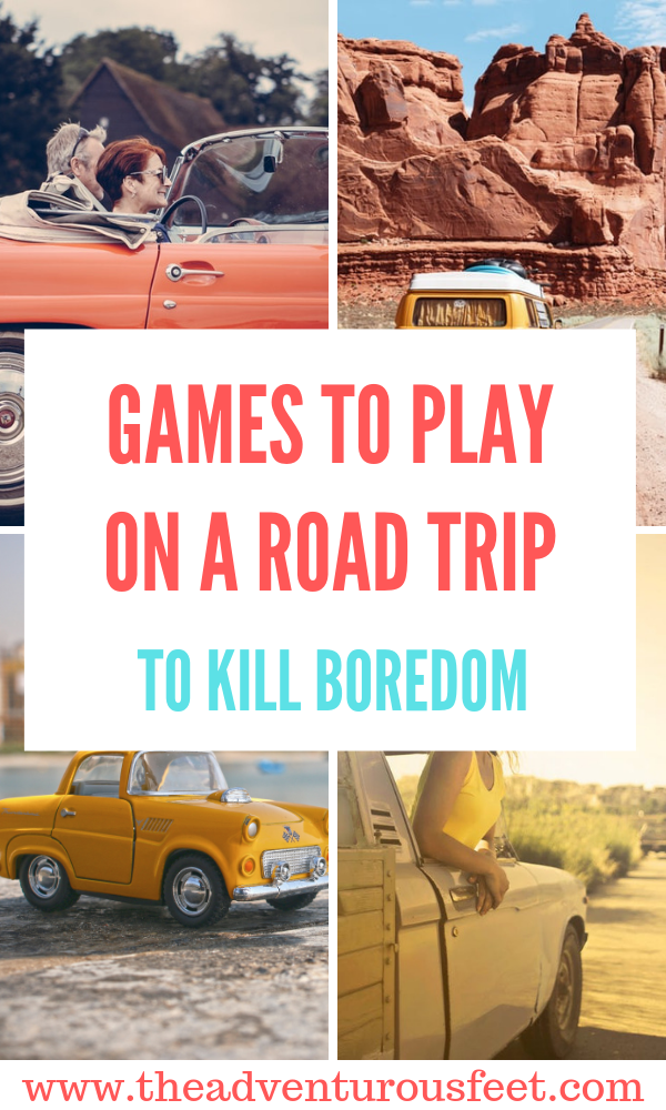 Going on a road trip? Here is a list of road trip games to play in a car to kill boredom. #roadtripgames #roadtripgamesforcouples #roadtrpgamesforadults #roadtripgameswithfriends #roadtripgamesforfamilies #roadtripgamesforkids #cargamesforaroadtrip