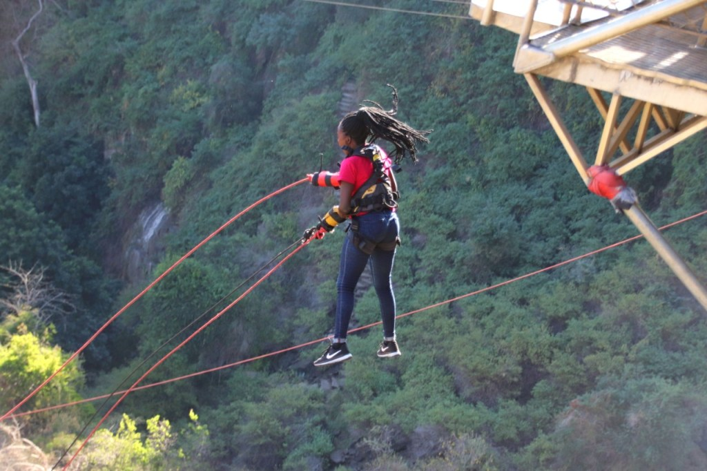 Going for a Bridge swing is one of the Victoria falls activities to do