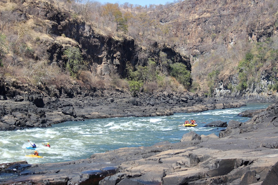 White Water Rafting is one of the Victoria Falls activities to do