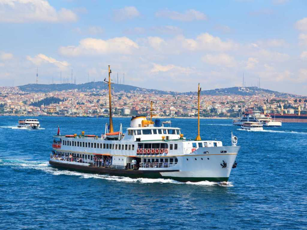Taking a Bosphorus cruise is one of the things to do in Istanbul at night