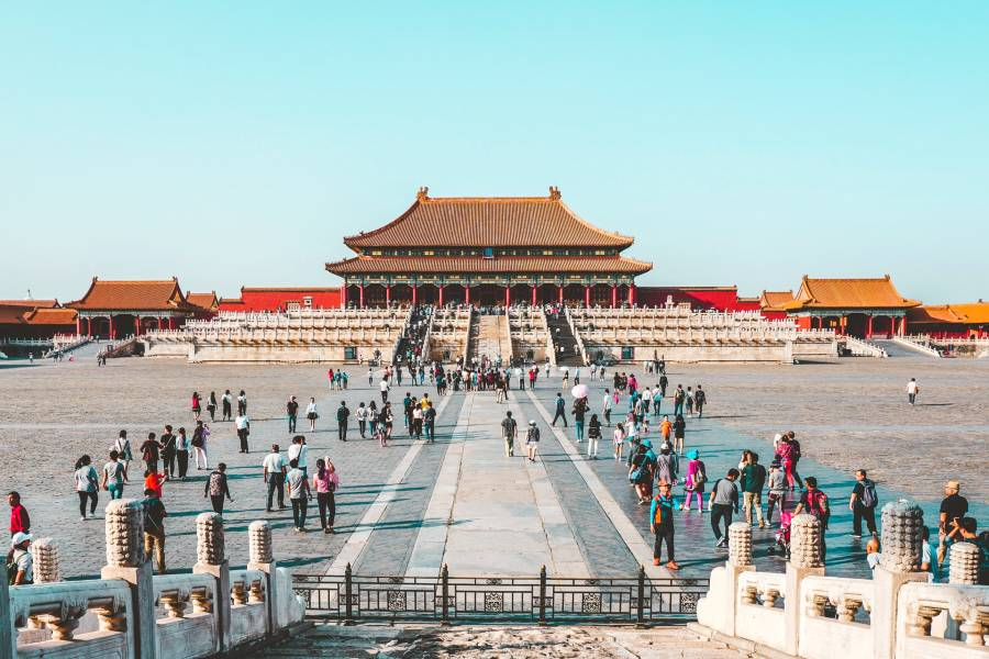 Forbidden City is one of the famous landmarks in china