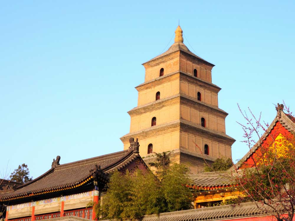 Giant Wild Goose Pagoda is one of the famous monuments in China