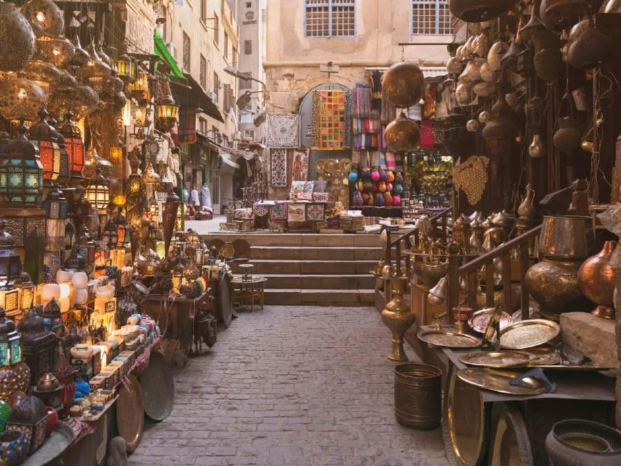 Khan El-Khalili Market is one of the famous landmarks in Egypt