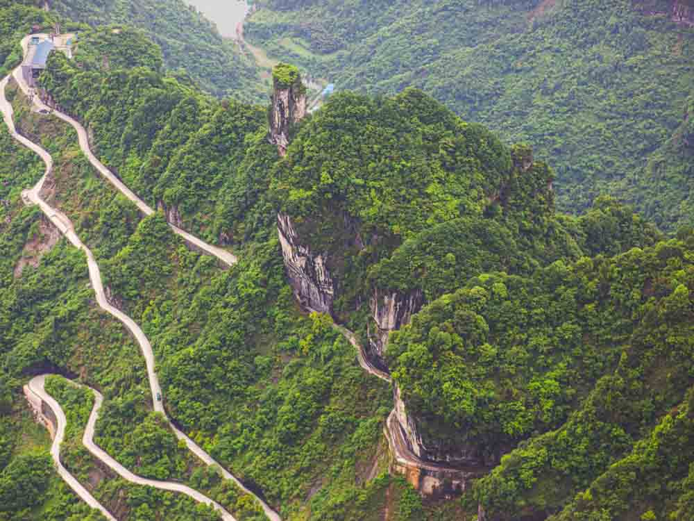 Tianmen Mountain is one of the natural wonders of China
