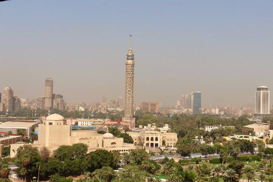 Cairo Tower is one of the famous landmarks in Egypt