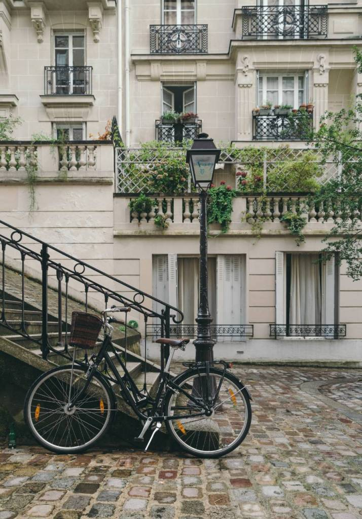 the Montmartre district paris