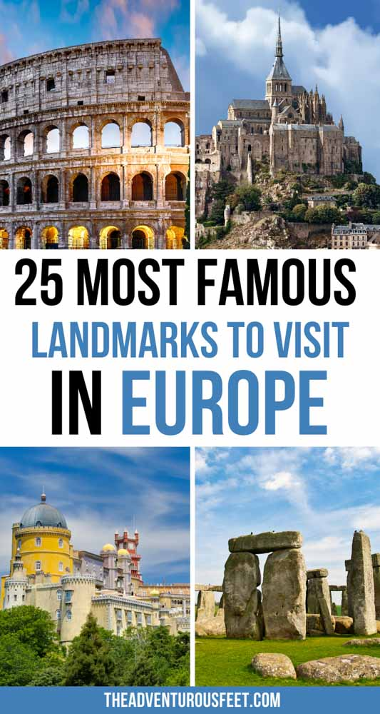 Looking for historical places in Europe to visit? This post will show you all the most famous landmarks of Europe you shouldn't miss out on. | famous landmarks in Europe| famous European landmarks| famous monuments in Europe| famous European monuments to visit| Europe famous landmarks| famous monuments of Europe| European landmark| best Europe historical places| historical places to visit in Europe| Europe monuments| famous buildings in Europe| famous European buildings| places to visit in Europe