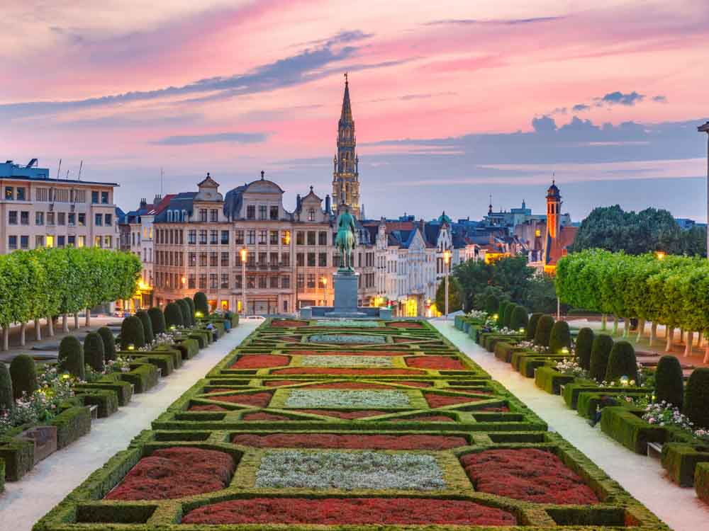 Grand Place in Brussels is one of the European famous landmarks