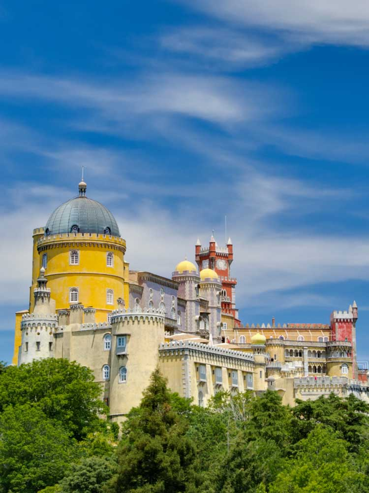 Pena Palace in Sintra is one of the famous buildings in Europe