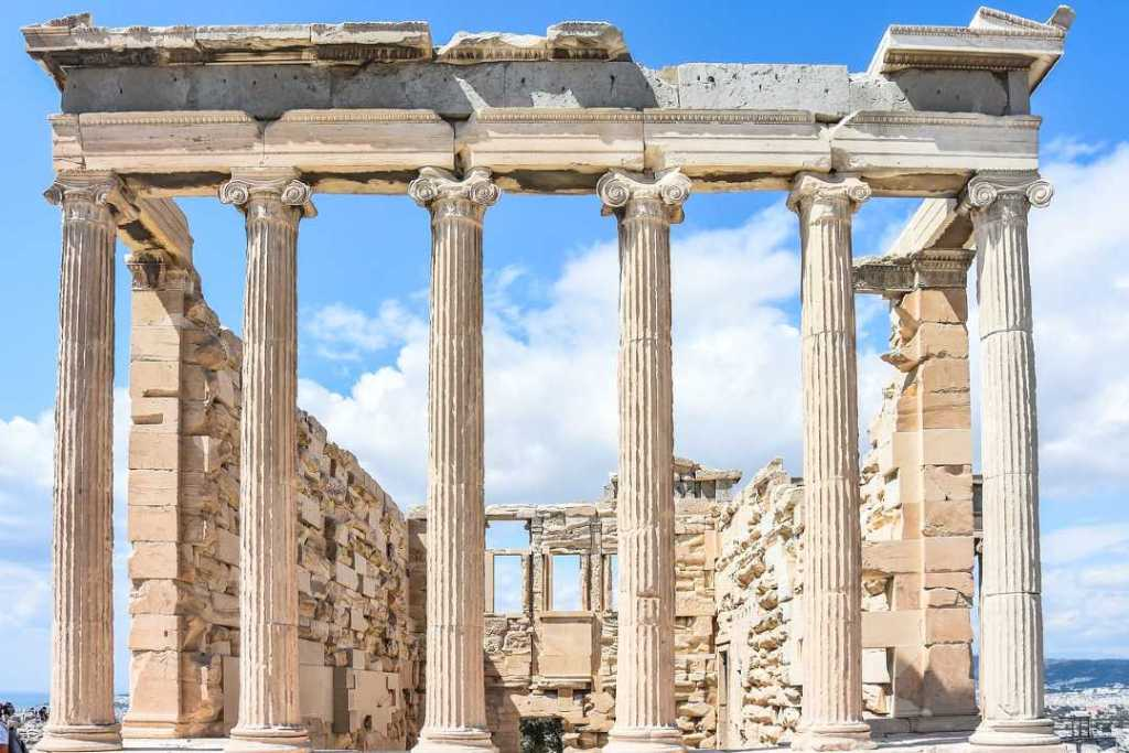 The Acropolis of Athens is one of the famous monuments in Europe