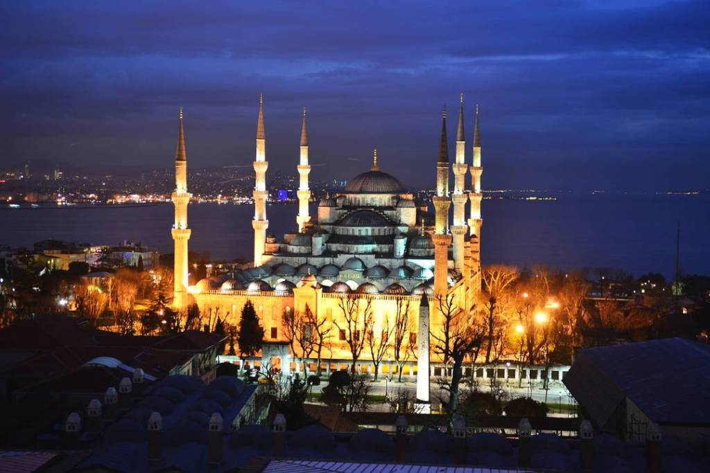 Blue Mosque in Istanbul is one of the European famous landmarks