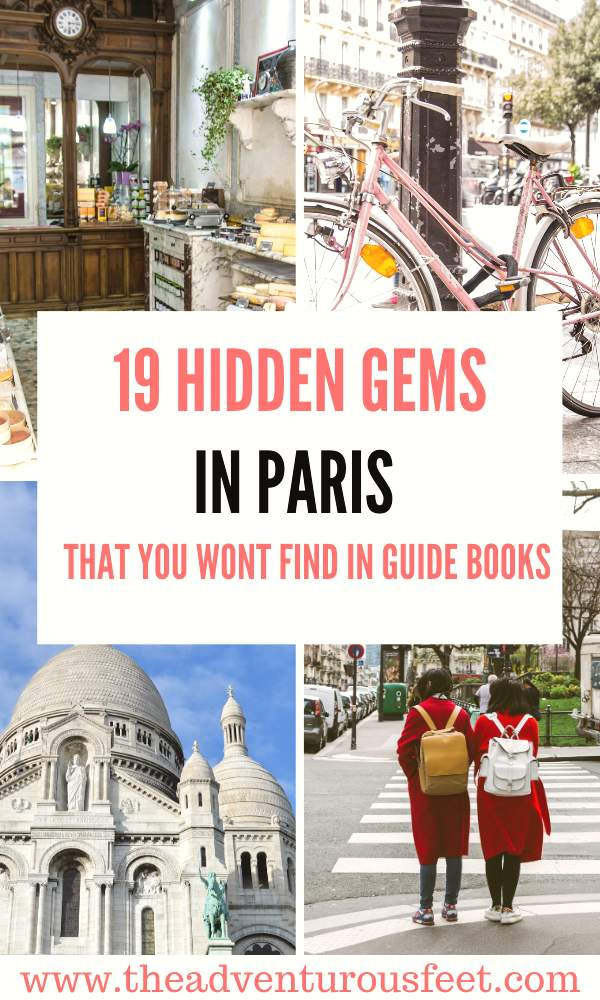 Want to escape the crowds in the city of lights? Here are the hidden gems in Paris you should visit.  Hidden gems in Paris France  Paris hidden gems   not touristy things to do in Paris  unusual things to do in Paris  Best hidden gems in Paris   Top hidden gems of Paris  secret spots in Paris to visit  Places to visit in Paris   Things to do in Paris #hiddengemsinparis #nontouristythingstodoinparis #bestkeptsecretsinparis #theadventurousfeet