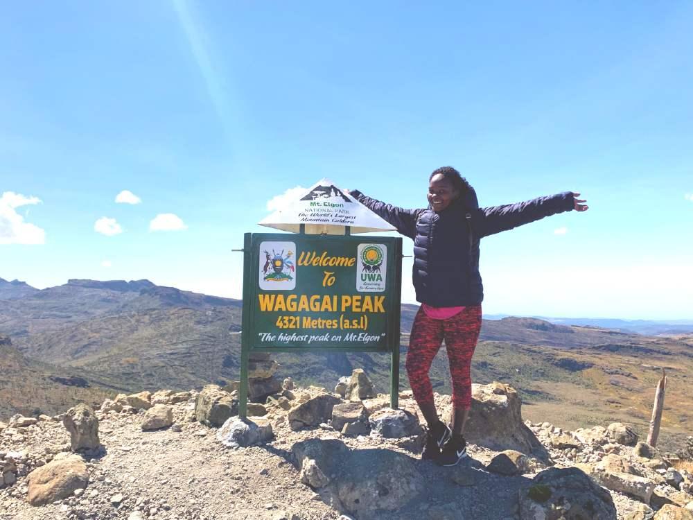 climbing Mount Elgon in Uganda