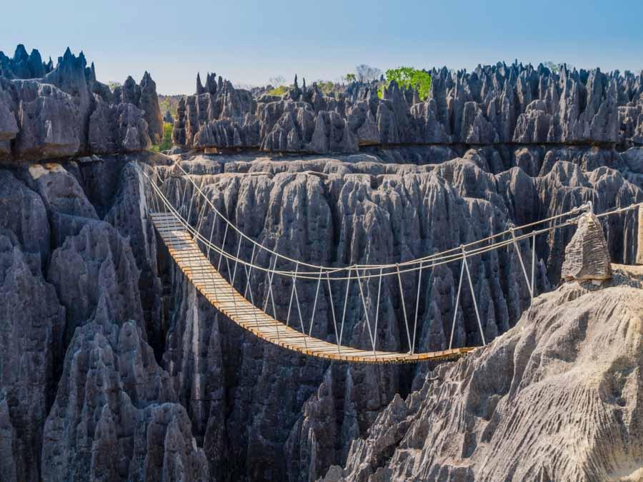 Tsingy De Bemaraha National Park is one of the beautiful landmarks of Africa