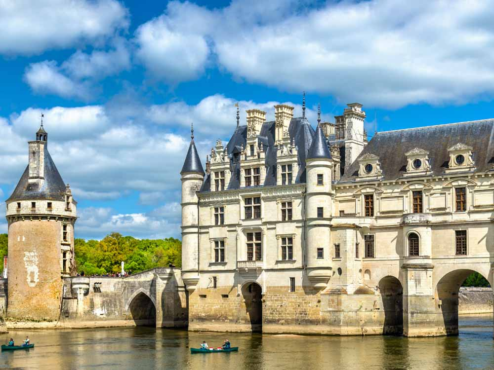 Chateau de Chenonceau is one of the French famous landmarks
