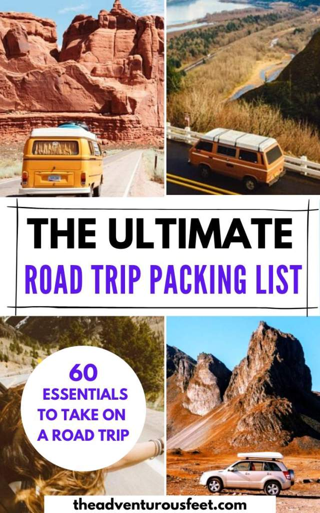 Going on a road trip? Here is the complete road trip packing list with everything you'll need> Packing list for a road trip  road trip essentials to pack things to bring on a road trip road trip checklist   what to pack for a road trip essentials for a road trip  road trip packing list #packinglistforroadtrips #packinglistroad trip #roadtripmusthaves