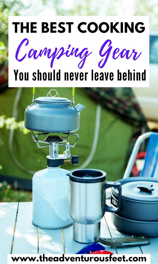 Going on a camping trip? Here is the camping cooking equipment you should take with you.| camping cooking gear| camping cooking equipment| camping fire cooking equipment| camping kitchen supplies| cooking gear for camping| camp cooking kitchen essentials| camping cooking essentials| camping cooking equipment| outdoor camping kitchen| camping gear for cooking #campingcookingessentials #campingkitchengear