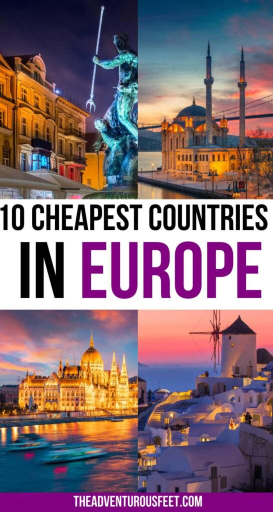 Want to travel to Europe on a budget? Here are the cheapest countries to visit in Europe  cheapest places in Europe  cheapest places to travel in Europe  cheap places to visit in Europe  budget destinations in Europe  budget travel destinations in Europe  cheap cities in Europe  bucket list places in Europe  countries to travel to in Europe  cheap places in Europe  cheapest destinations in Europe  most cheap places in Europe   cheap European places to visit   Europetravel