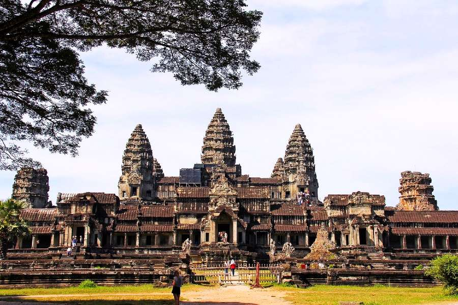 Angkor Wat in Cambodia is one of the famous landmarks of Asia