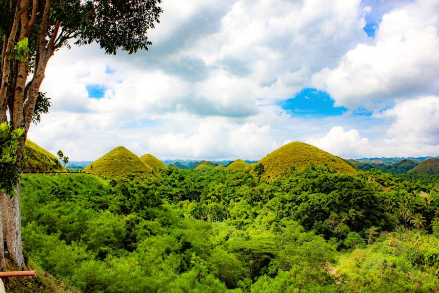 Chocolate Hills, The Philippines is one of the famous Asian landmarks