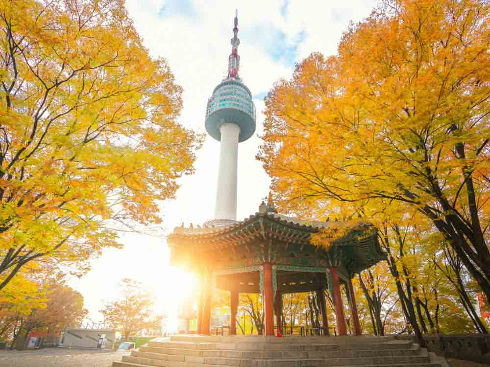 N-Seoul Tower in South Korea is one of the famous Asian monuments