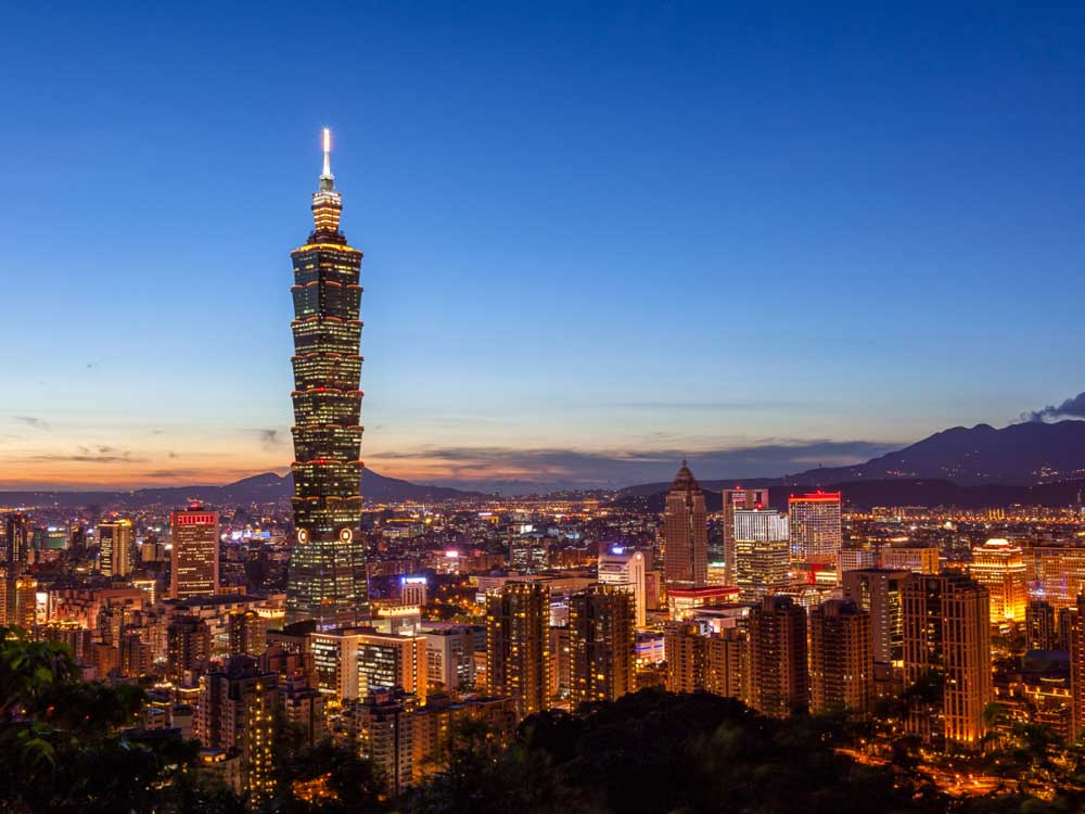 Taipei 101 in Taiwan is one of the famous Asian buildings