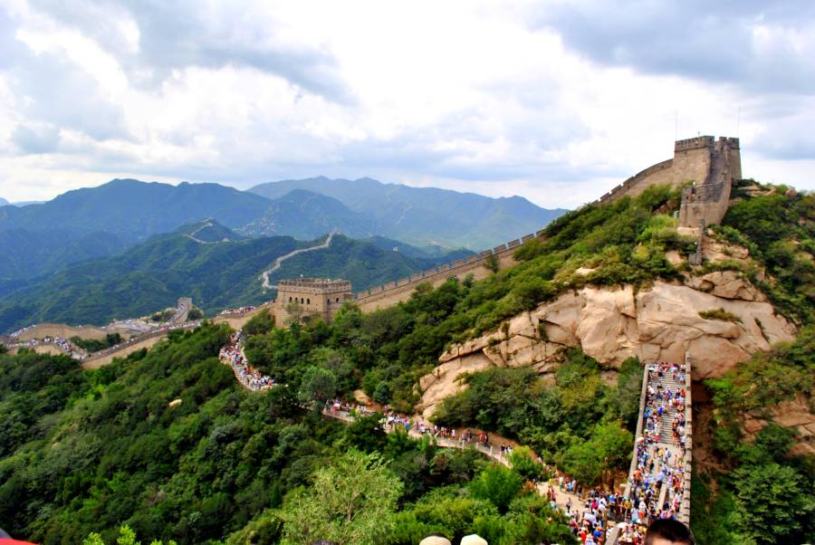 The Great Wall of China, China is one of the famous landmarks in Asia
