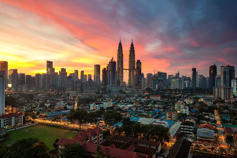 Petronas Towers in Malaysia is one of the famous monuments of Asia