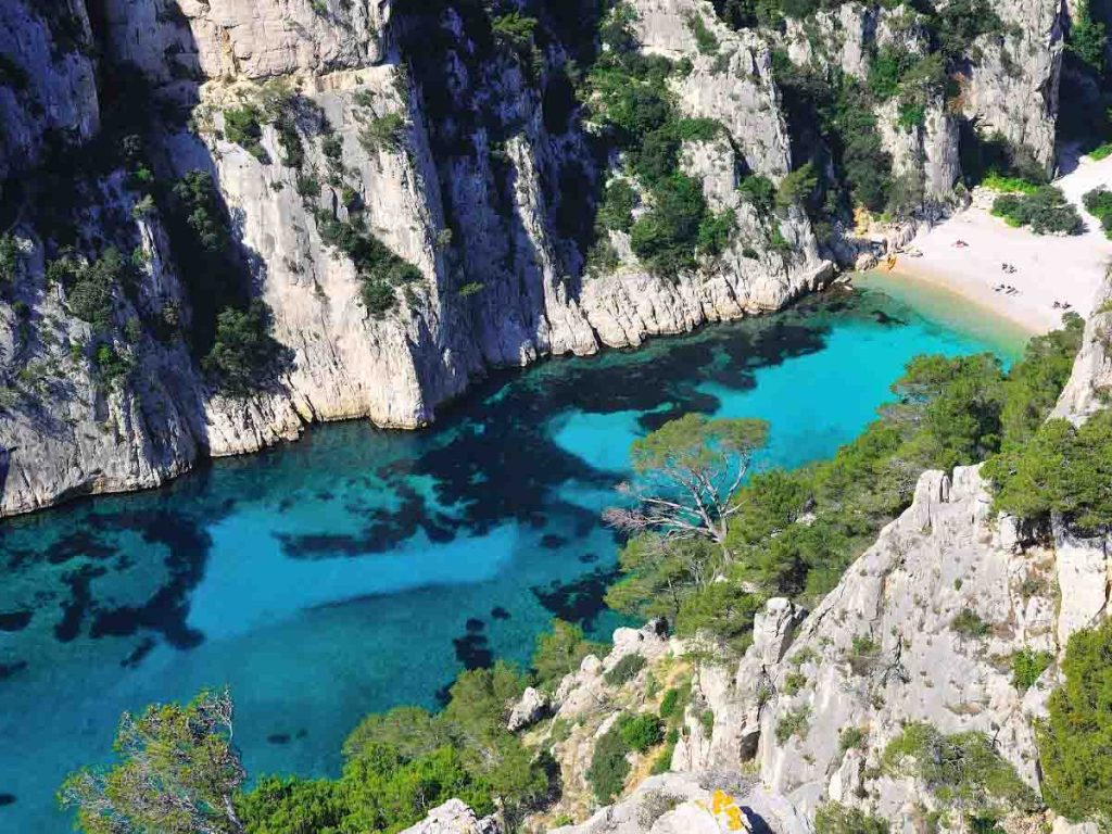 Calanque d'En Vau is the most beautiful beach of South France