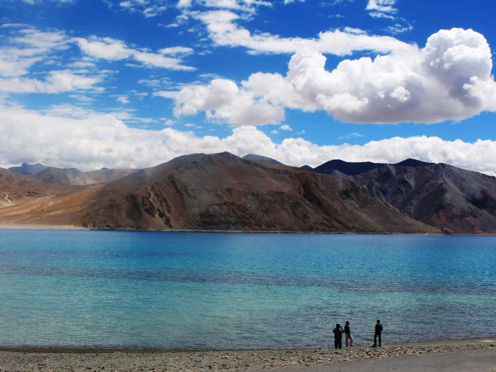 Pangong Tso is one of the natural landmarks in India