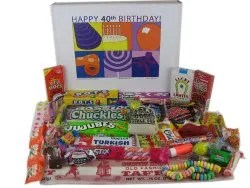 40th birthday retro candy gift idea