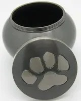 cremation urn dog ashes after funeral