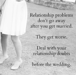 scared to get married marriage doubts